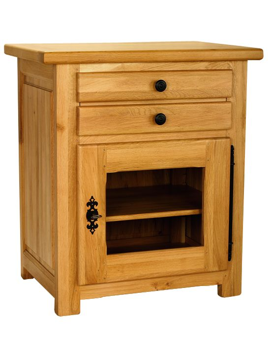 Solid Oak Hi-Fi Unit, 1 Door and 1 Drawer