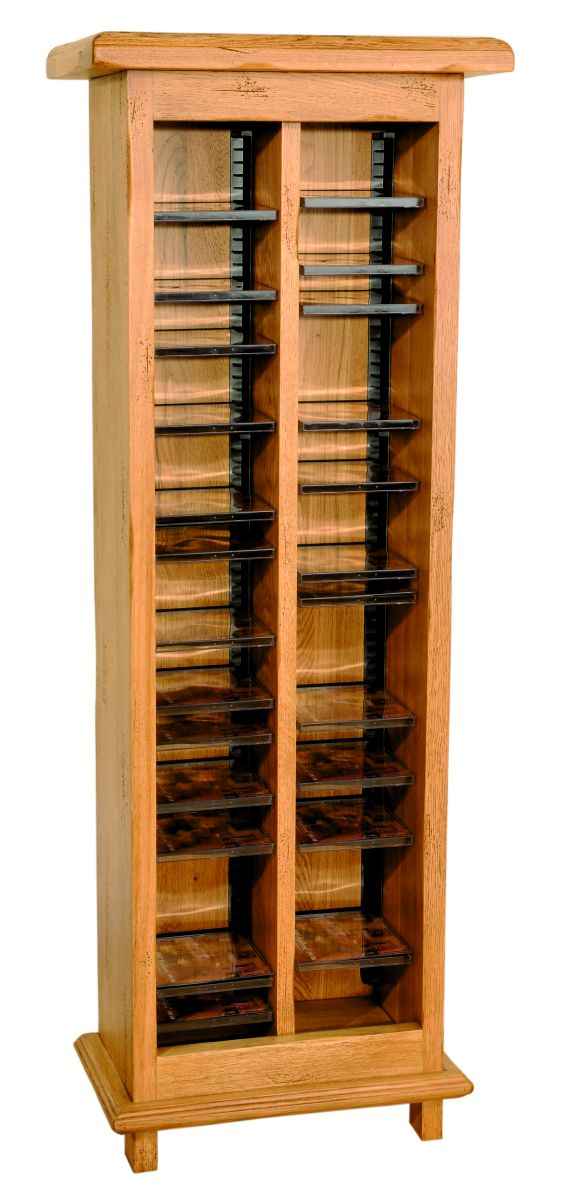 Solid Oak CD Rack
