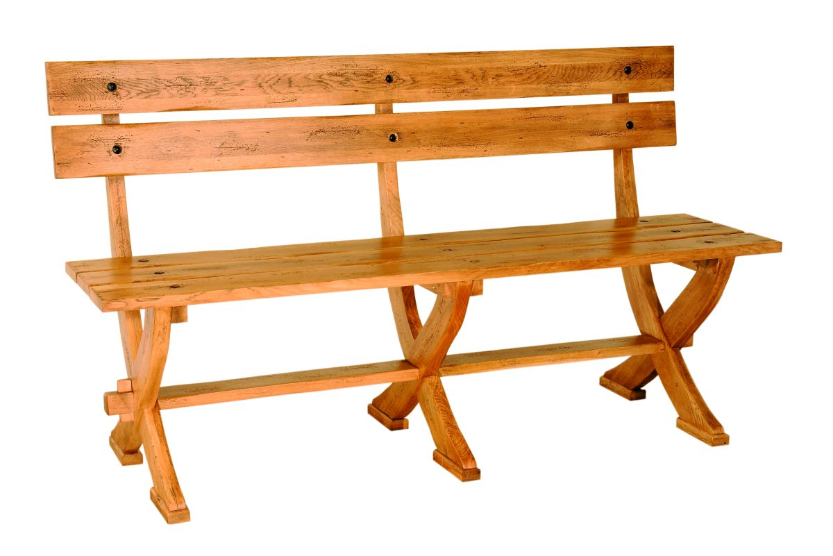 Solid Oak Heritage Bench