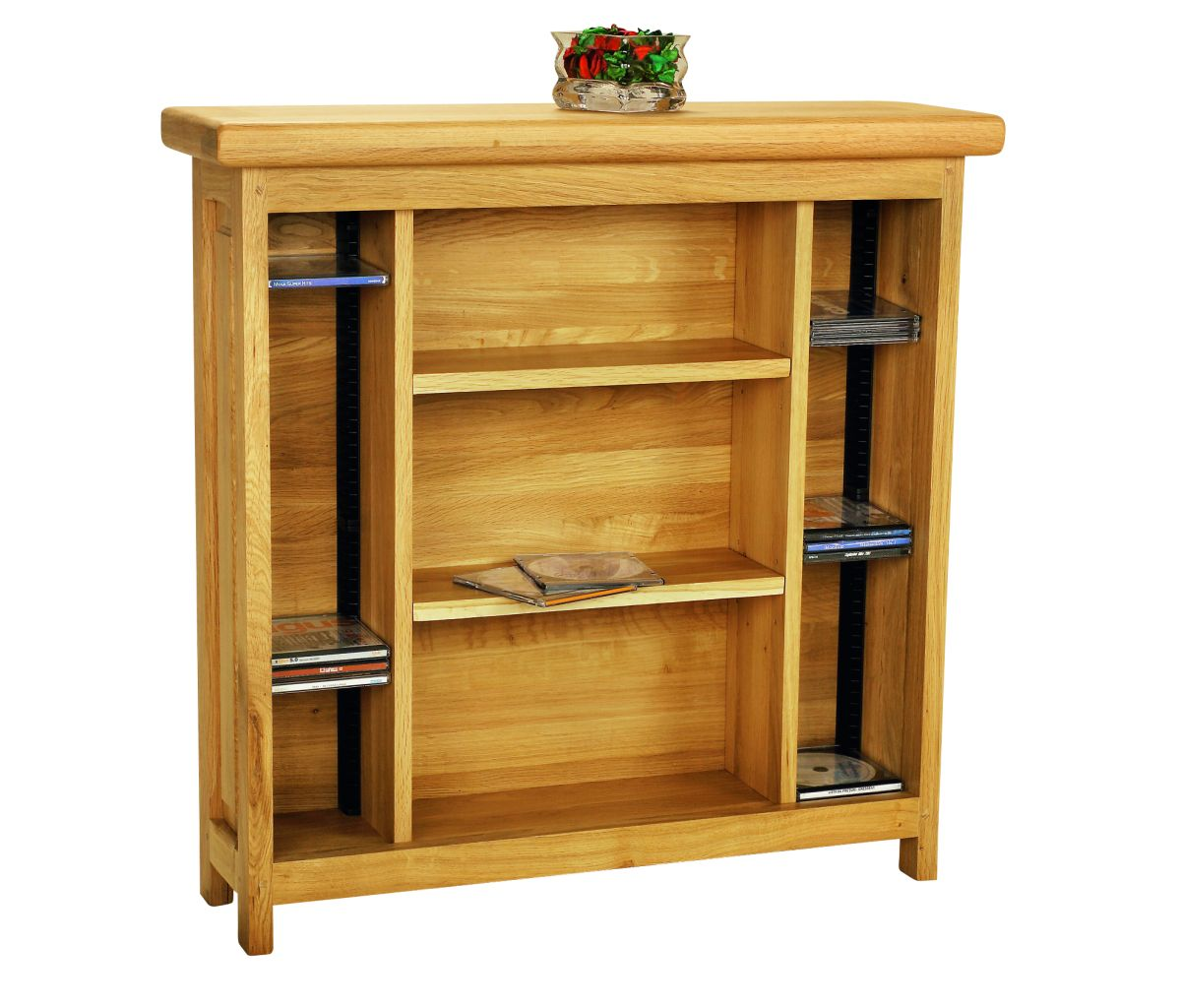 Solid Oak CD and DVD Rack