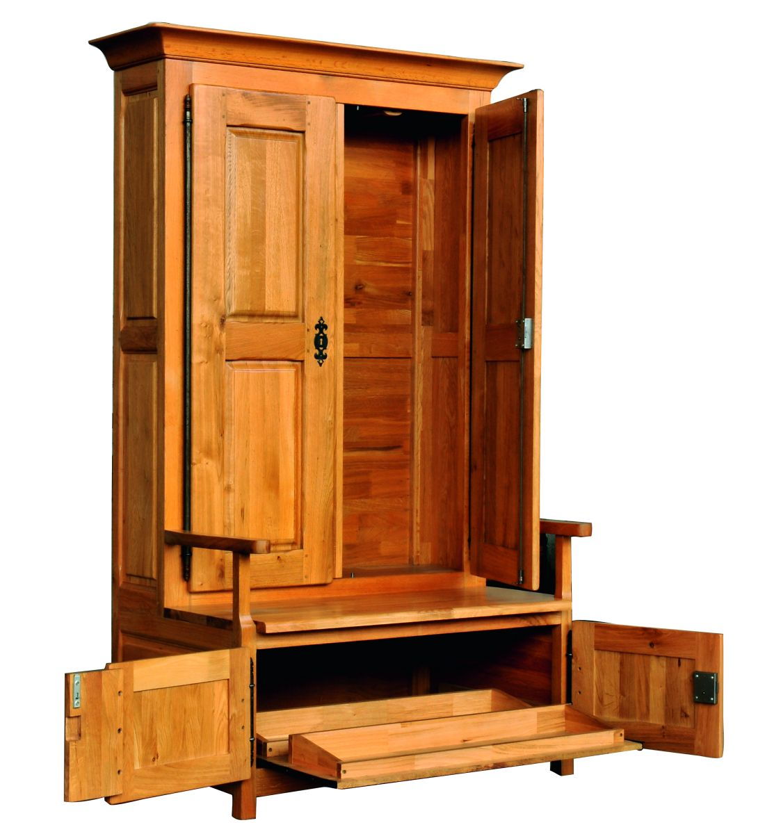 Solid Oak Wardrobe, 4 Doors