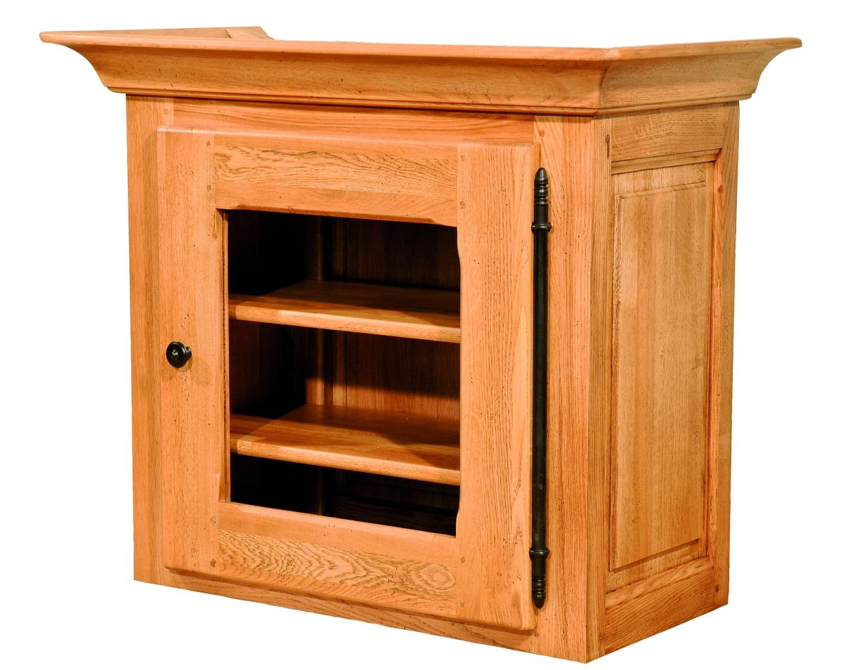 Solid Oak Cabinet Top, 1 Door