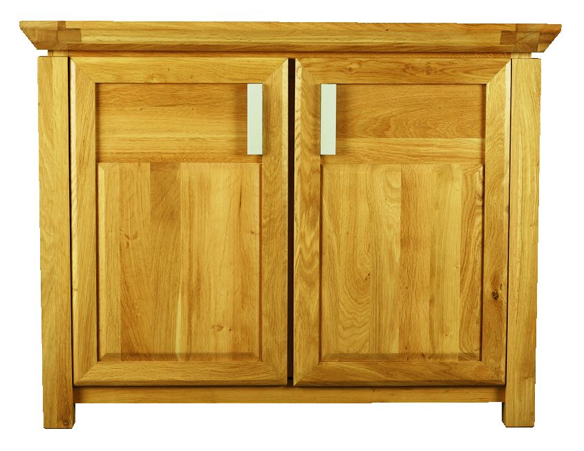 Solid Oak Sideboard, 2 Doors