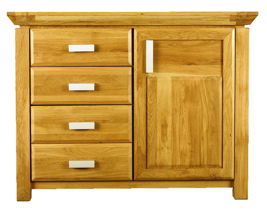 Solid Oak Sideboard, 1 Door and 3 Drawers