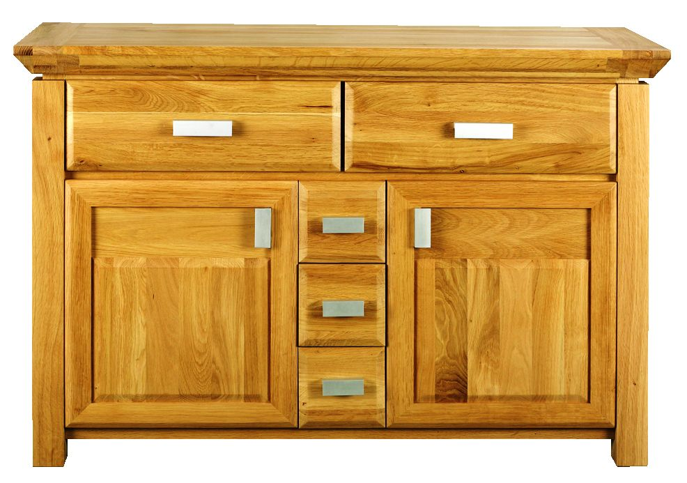 Solid Oak Sideboard, 2 Door and 5 Drawers