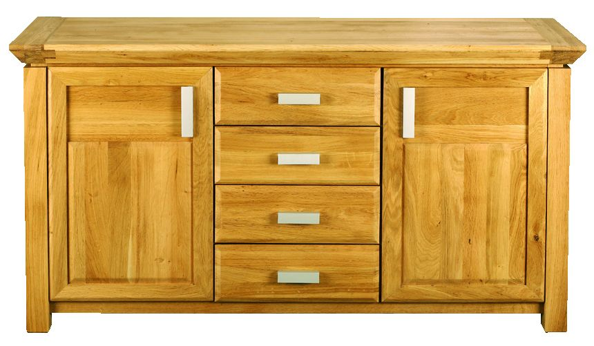 Solid Oak Sideboard, 2 Doors and 3 Drawers