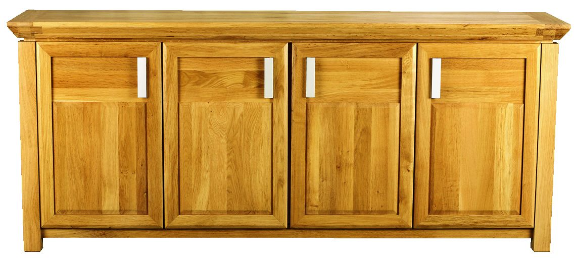 Solid Oak Sideboard, 4 Doors