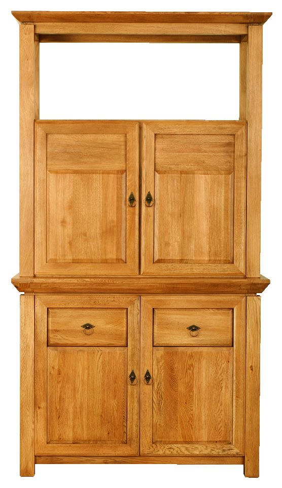 Solid Oak Cabinet Top, 2 Wooden Doors