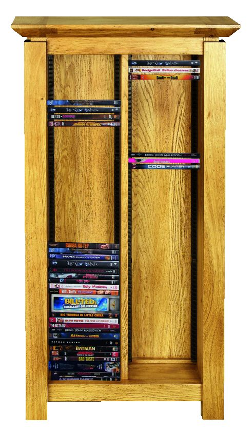 Solid Oak DVD Rack