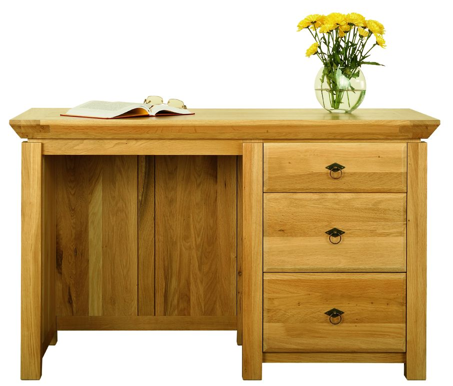 Solid Oak Desk, 3 Drawers