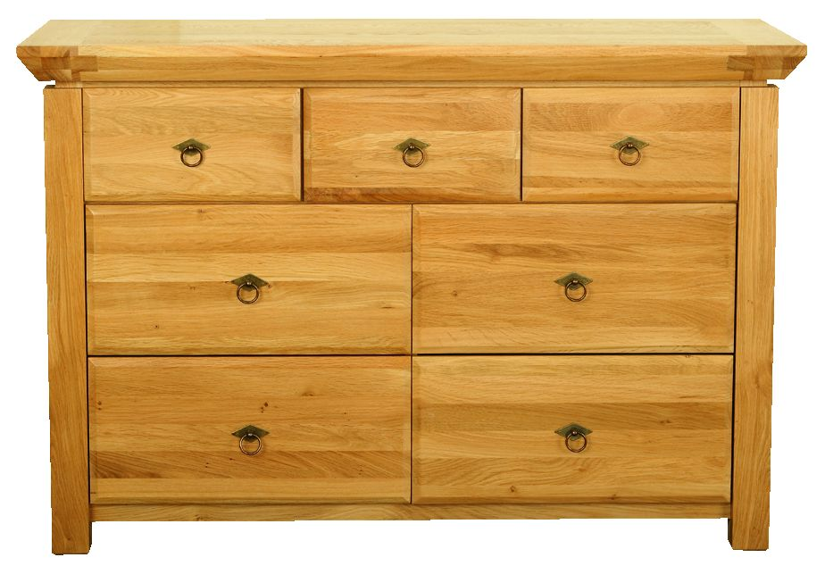 Solid Oak Chest, 7 Drawers