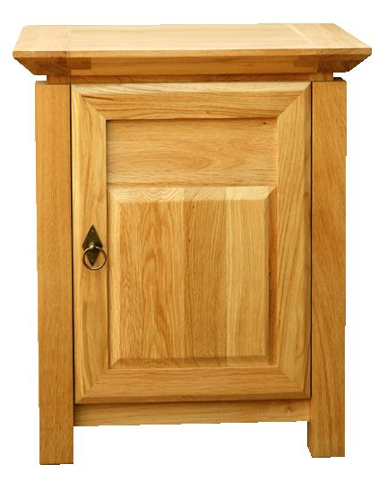 Solid Oak Bedside Cabinet, 1 Door