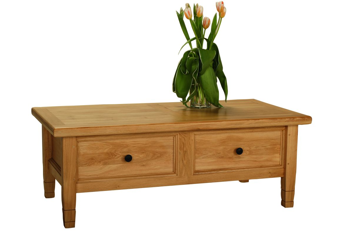 Solid Oak Coffee Table – Drinks Unit, 1 Drawer
