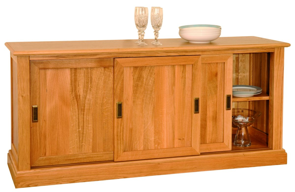 Solid Oak Sideboard, 3 Doors