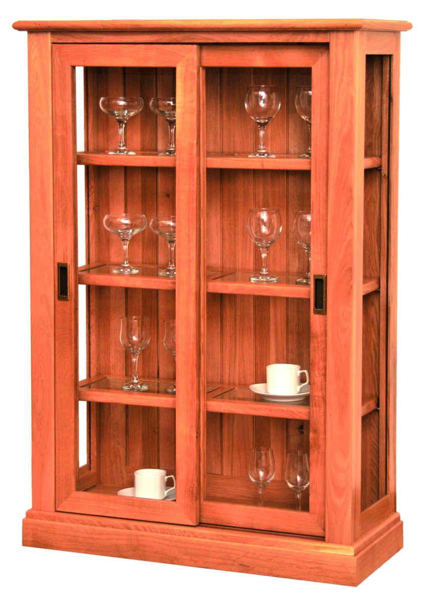 Solid Oak Display Cabinet, 2 Doors