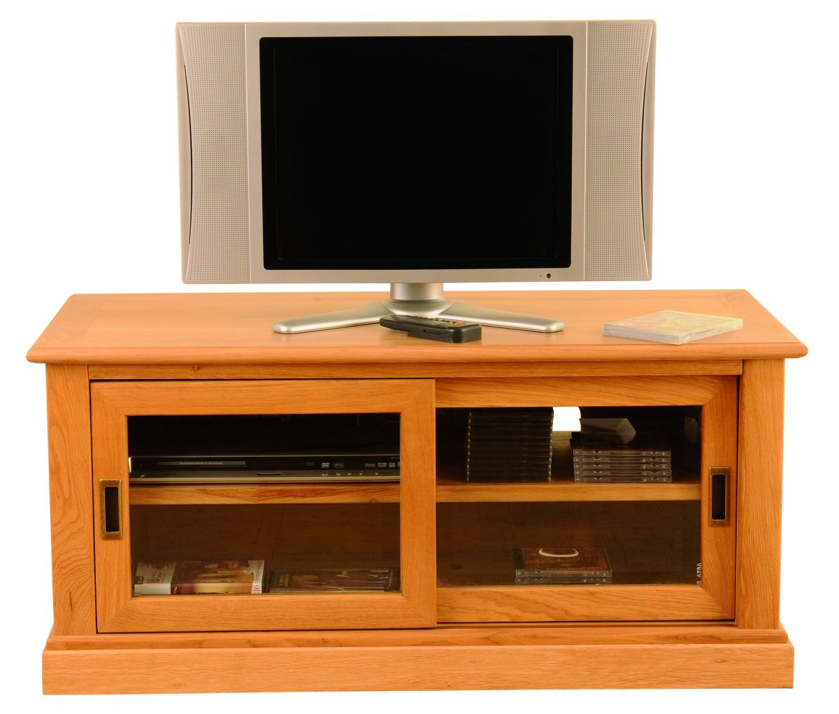 Solid Oak TV Unit, 2 Doors