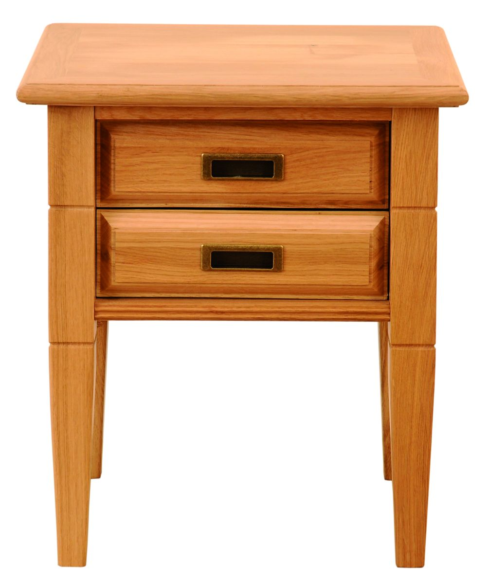 Solid Oak Lamp Table, 2 Drawers (with or without shelf)