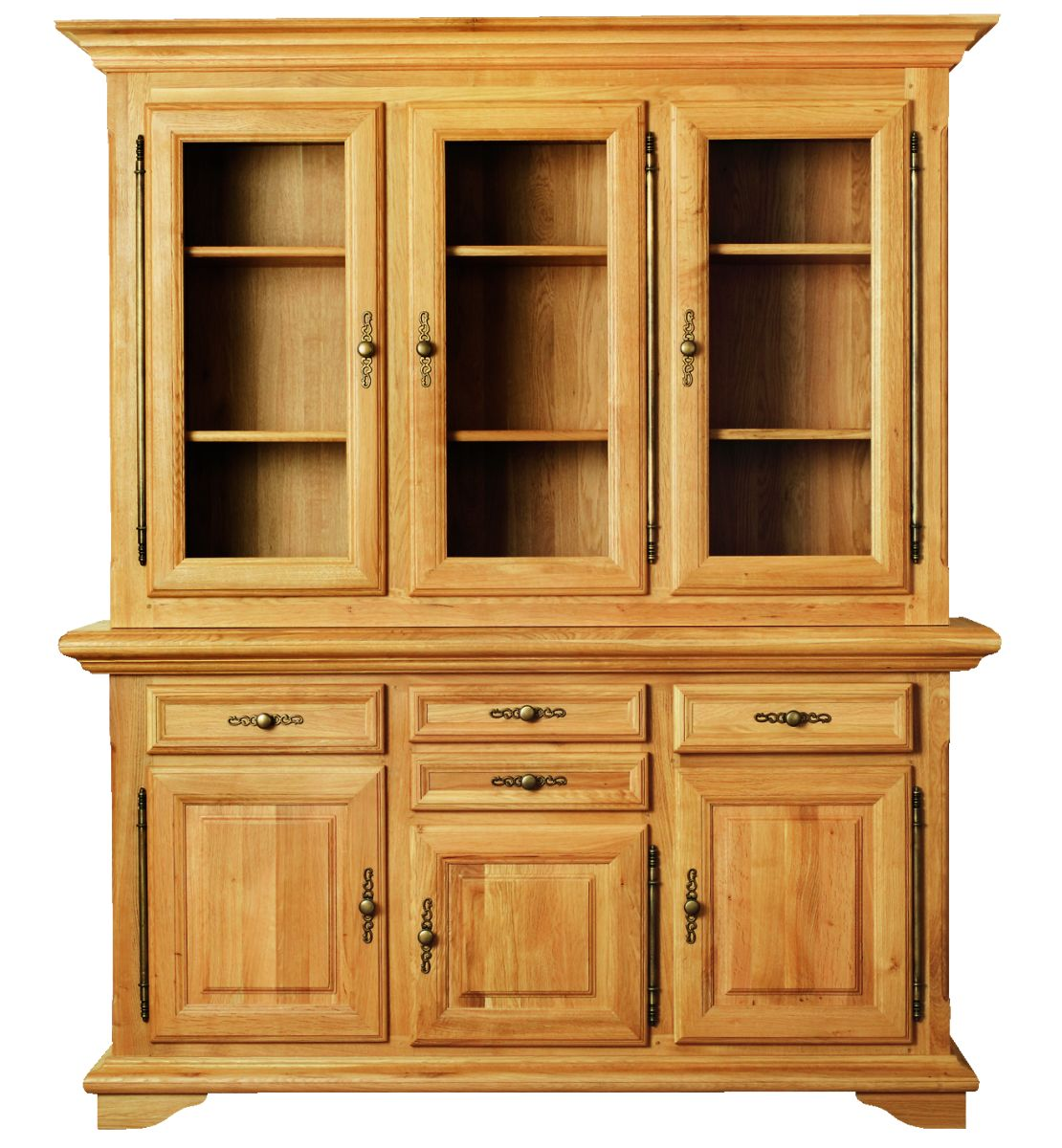 Solid Oak Cabinet Top, 3 Doors