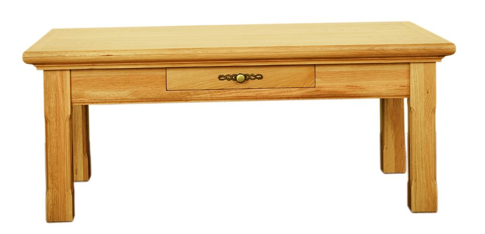 Solid Oak Coffee Table, 1 Drawer