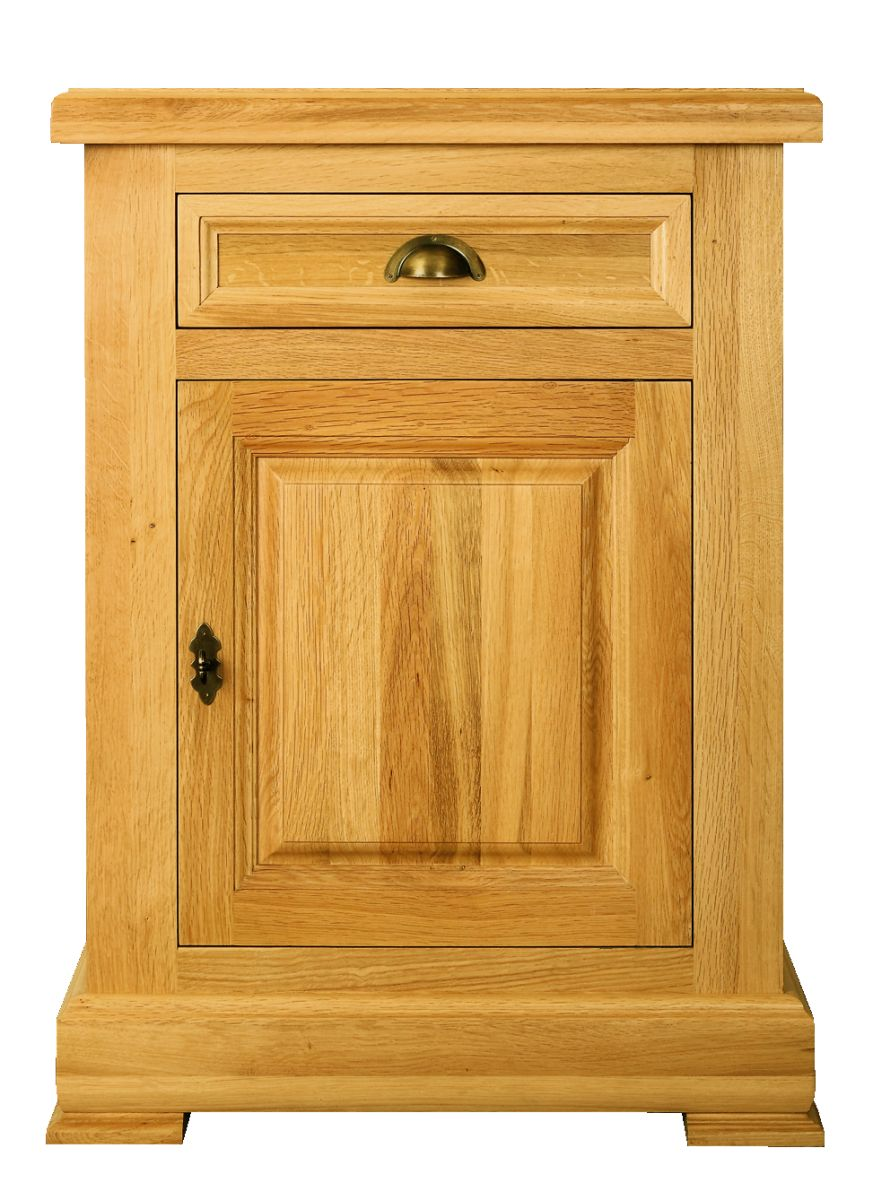 Solid Oak Sideboard, 1 Door and 1 Drawer