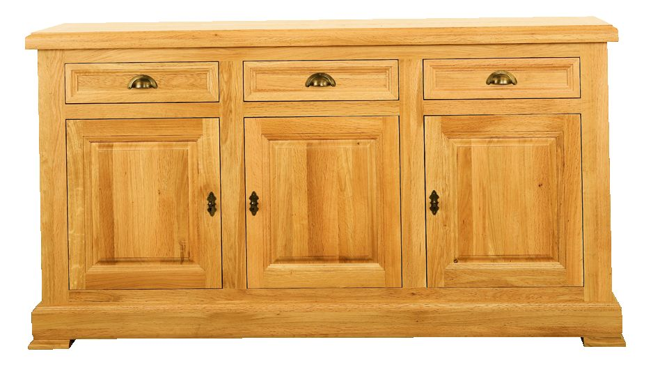 Solid Oak Sideboard, 3 Doors and 3 Drawers
