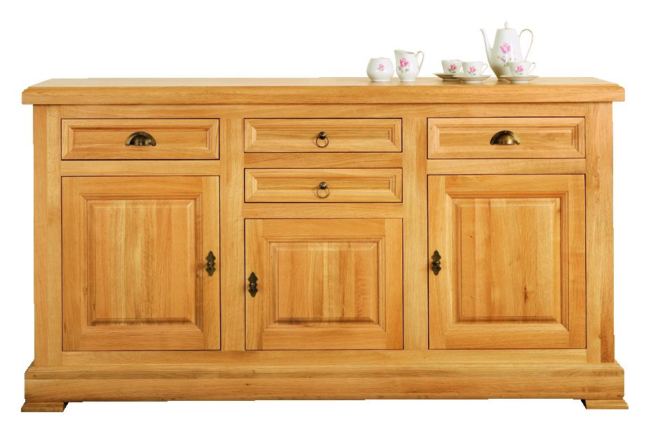 Solid Oak Sideboard, 3 Doors and 4 Drawers