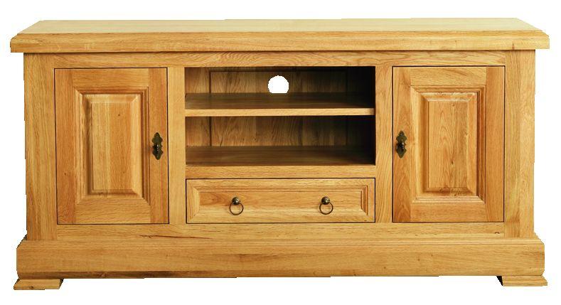 Solid Oak Widescreen TV Unit, 2 Doors and 1 Drawer