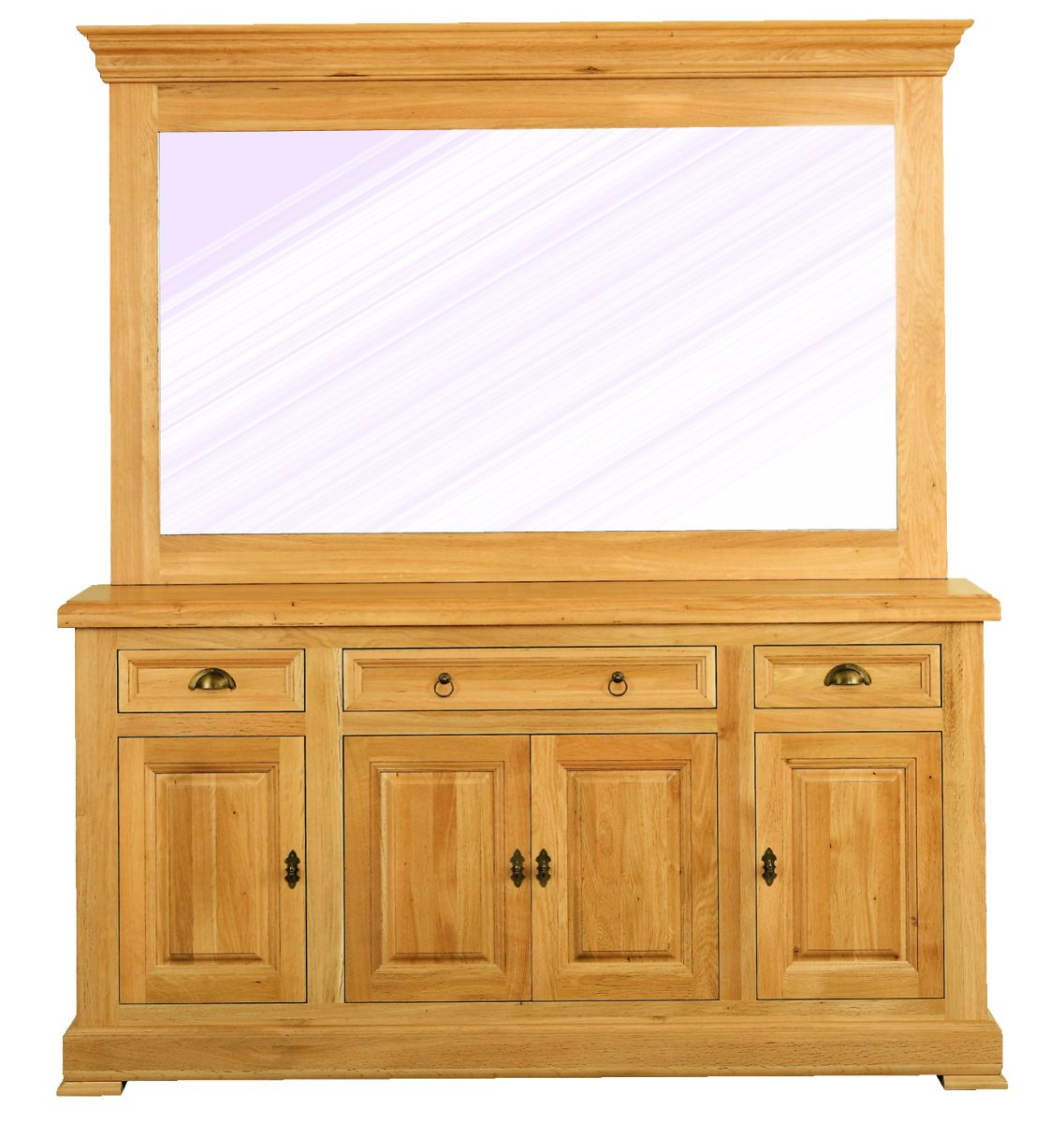 Solid Oak Furniture Mirror