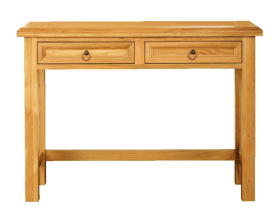 Solid Oak Hall Table, 2 Drawers (with or without shelf)