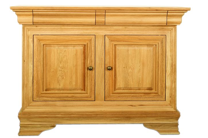 Solid Oak Sideboard, 2 Doors and 2 Drawers