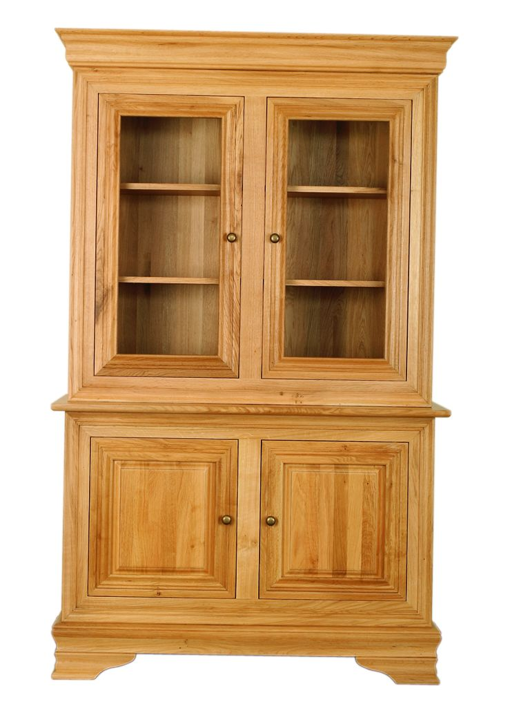 Solid Oak Cabinet Base and Top, 4 Doors