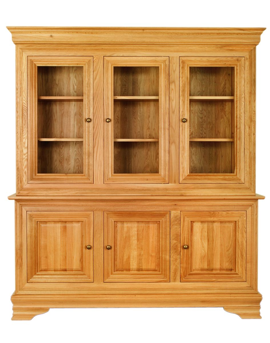 Solid Oak Cabinet Base and Top, 6 Doors
