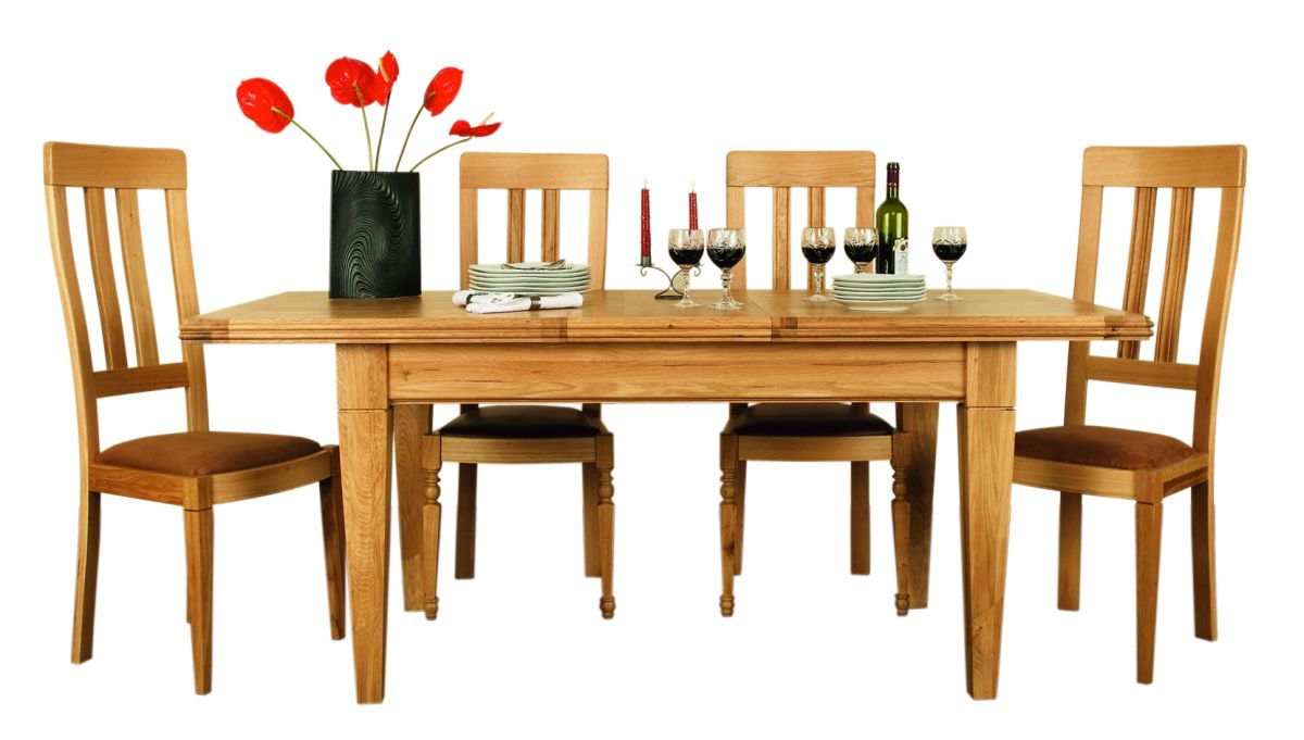 Solid Oak Extendable Table