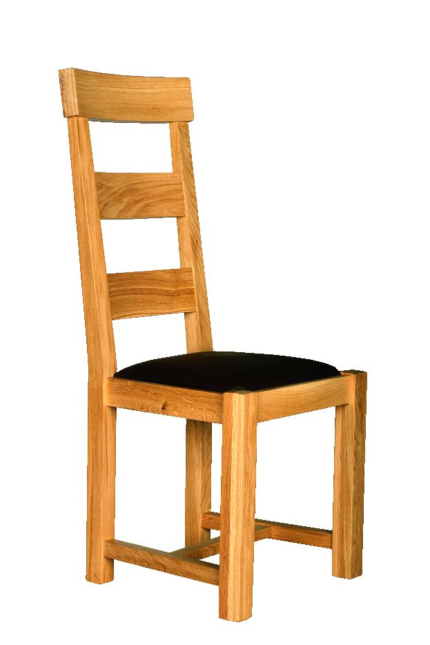 Solid Oak Chair, Narrow Traverse