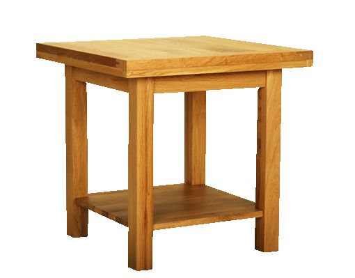 Solid Oak Lamp Table