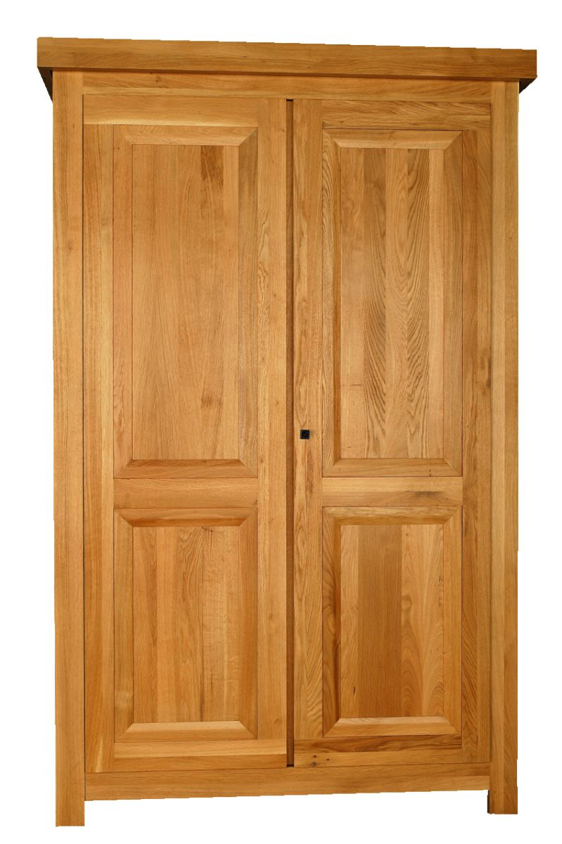 Solid Oak Wardrobe, 2 Doors