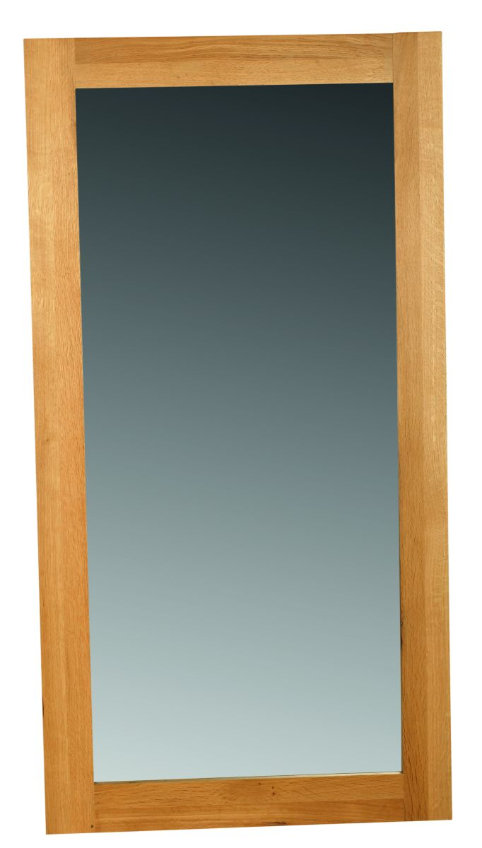 Solid Oak Wall Mirror