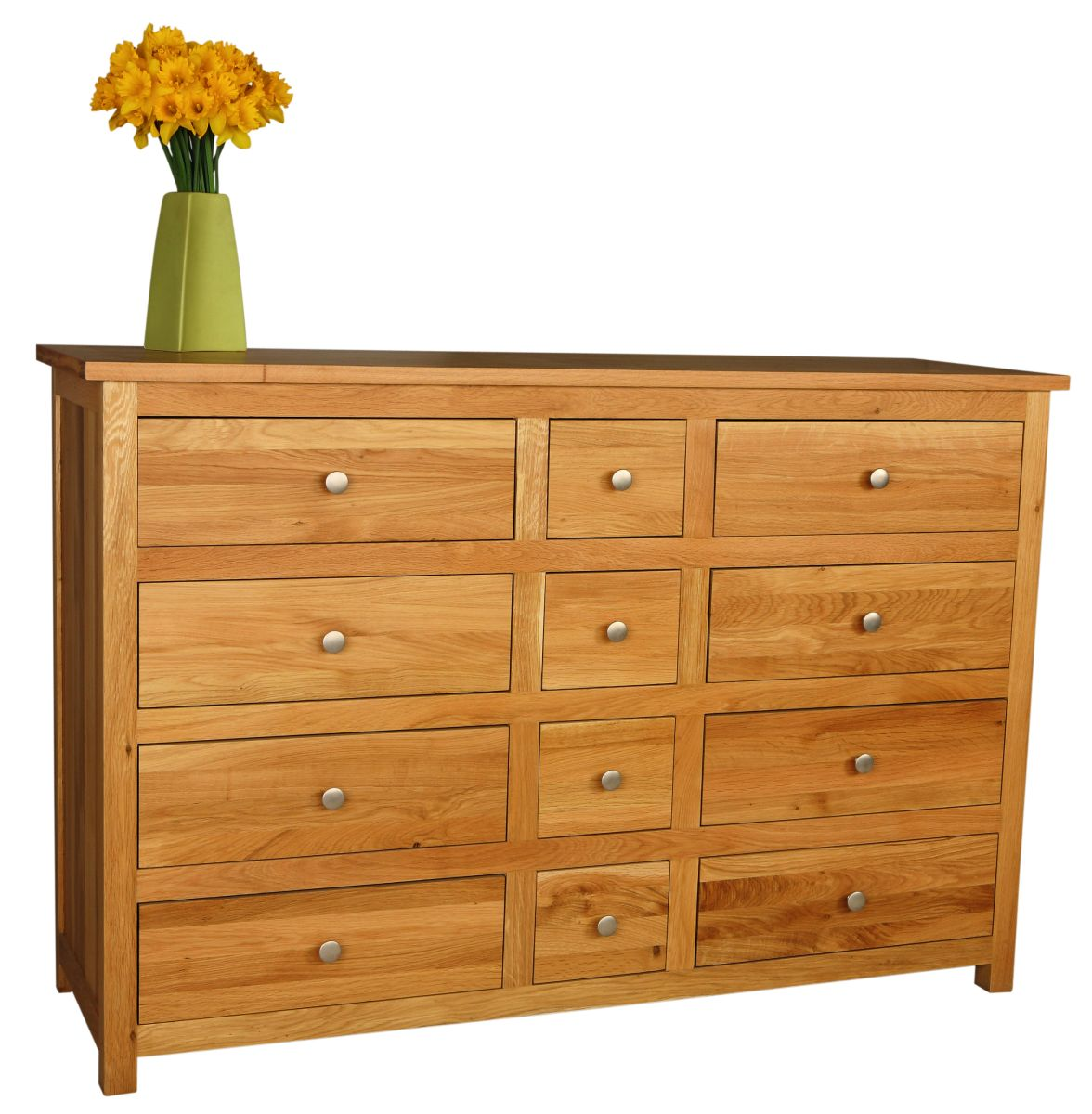Solid Oak Chest, 12 Drawers